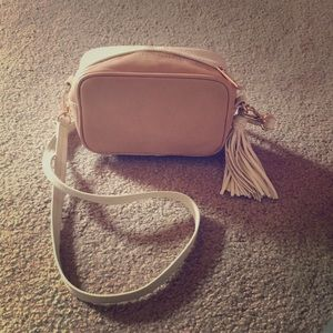 Two shaded purse with tassel.